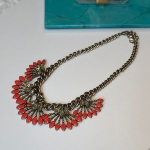 Stella and Dot Orange statement necklace